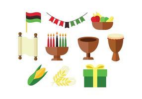 Vector de ícone colorido colorido de Kwanzaa