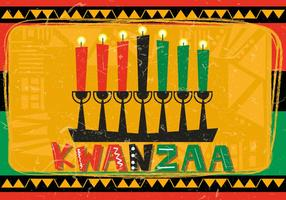 Happy Kwanzaa With Kwanzaa Candle