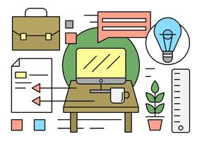 Free-office-desk-elements-vector