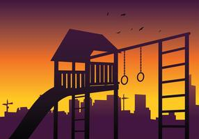 Jungle Gym Silhouette Free Vector