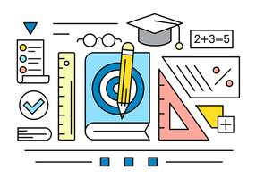Éléments vectoriels linéaires à propos de l'éducation