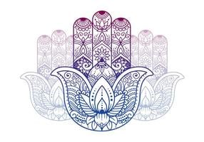 Buddhistische Symbole Hand vektor