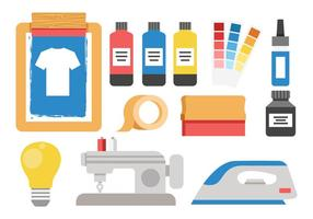 Gratis Screen Printing Tools Vector