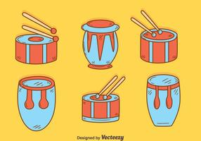 Hand Drawn Percussion Instrument Vector