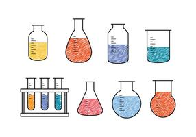science beaker vectors