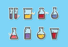 Ciencia Beaker Vector Pack