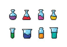 wetenschappelijke beker pixel vectoren