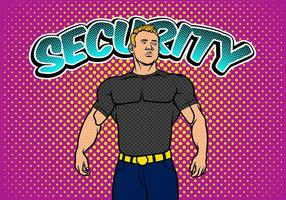 Bouncer Security Pop Art Bakgrund