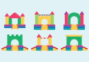 Bouncy Castle Set vector