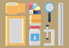 Screen Printing Collection Item Vector Illustration