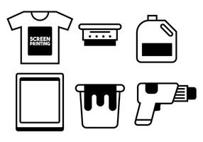 Screen printing vector set