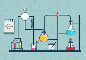 Free Beaker Flask Experiment Vector Illustration
