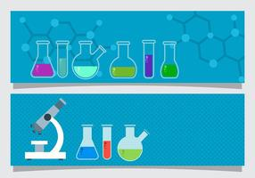 Science Beaker Banner Vector