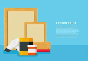 Screen Print Free Vector
