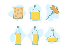 Free Outstanding Cork and Bottle Vectors