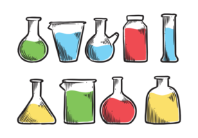 Beaker Icons Vector