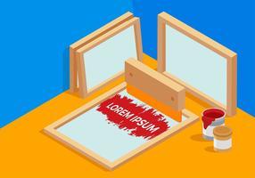 Screen Print Tools Free Vector