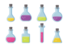 Beaker and Flask Icons Vector