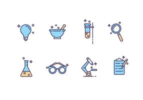 Science Laboratory Icons vector