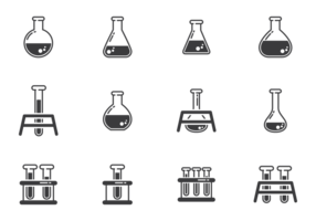 Erlenmeyer Icons Vector