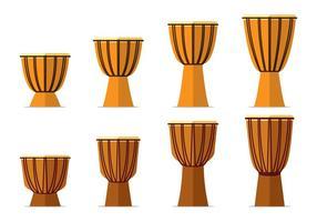 Djembe Drum Flat Vectors