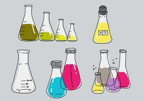 Erlenmeyer Collection Hand Drawn Vector Illustration