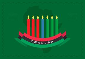 L'illustration de Kwanzaa salue le fond du vecteur