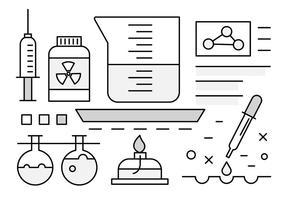 Free Vector Icons über die Wissenschaft
