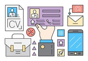 Libre perfil social ilustración vectorial