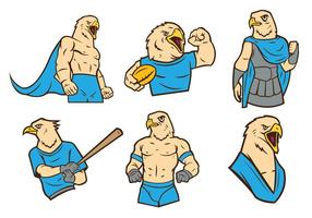 Free Eagles Mascot Vector