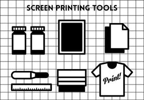 Screen Printing Vector Ikoner