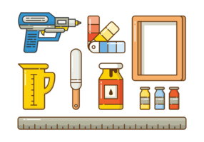 Screen Printing Icon Set