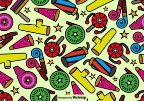 Cute Noise Maker Icons Pattern