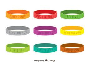 Colorful Wristband Collection Vector