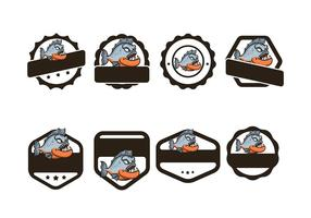 Piranha Badge Vector