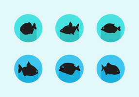 Piranha Gratis Vector Pack