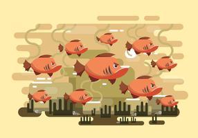 Gratis Piranha Vektor