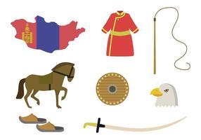 Vecteurs Mongols Plats
