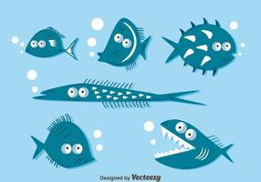 Vettore divertente della raccolta dei pesci