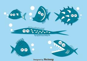 Funny Fish Collection Vector