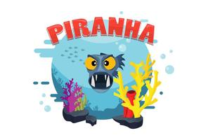 Piranha Illustration Vector