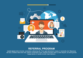 Concept voor Referral Program Vector