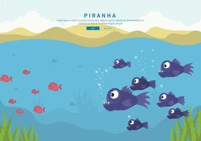 Gratis Piranha Illustratie