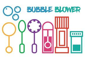 Bubble blower vector set