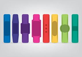 Smart Wristband Icons Set