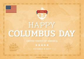 Happy-columbus-day-lettering-on-old-world-map