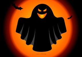 Spooky Halloween Ghost Illustration