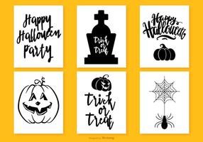 Cute Halloween Mini Cards Collection
