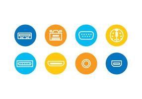 Device Ports Icons Free Vector