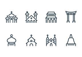 Religieus gebouw pictogram